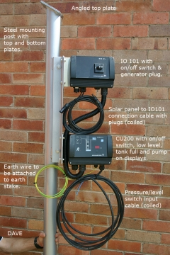 solar post and controllers 615w fixed solar array with frame, post and any sqflex solar pump  at readyjetset.co